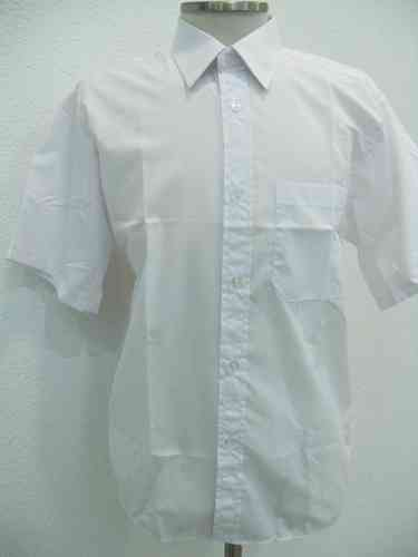 7c258f7d56f34 Camisa blanca para músico de manga corta - Neus Moda batas maestra ...